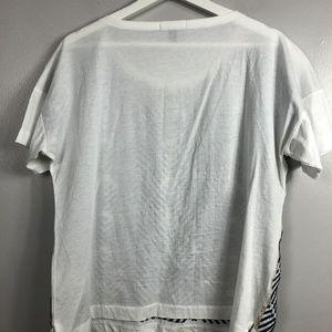J. Crew Tops - J. Crew Embroidered Herringbone T-Shirt Medium